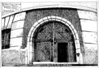 Портал в'їзної брами.<br />             Буд. №1, вул. Федорова.<br />             07.05.1999