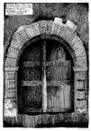 Портал 1695.<br />             Будинок, пл. Ринок, 10, тильний фасад від вулиці І.Федорова.<br />             02.05.1999