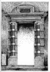 Кам'яний портал кам'яниці Корнякта.<br />             Другий поверх, галерея.<br />             30.05.1999
