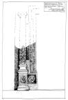 Кам'яний цільний блок порталу з колоною.<br />             Львівські кам'яниці.<br />             15.05.1999