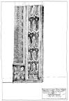 Кам'яна різьблена частина порталу невідомої кам'яниці Львова.<br />             15.05.1999
