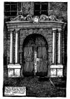 Портал кам'яниці Корнякта, з тильного будинку, від вулиці І.Федорова.<br />             Портал сформовано із використанням зразку трактату С.Серліа.<br />             29.04.1999